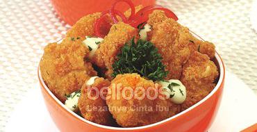 chicken-popcorn-saus-keju
